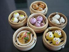 Set of 6 Dim Sum Chinese Cuisine Handmade Dollhouse Miniatures Food Deco C
