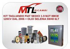 KIT TAGLIANDO FIAT SEDICI 1.9 MJT 88KW 120CV DAL 2006 + OLIO SELENIA 5W40 6LT