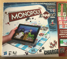Monopoly Zapped Edition Hasbro Complete Board Game use w/ iPad iPhone iPod Touch