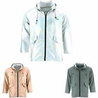 Waterproof Hooded Jacket Firefly Shiny Reflective Zipped
