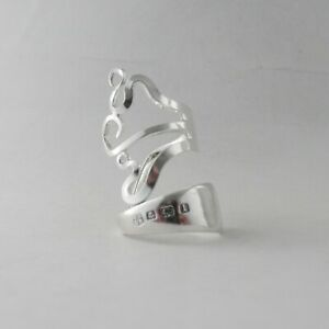 Sterling Silver Fork Ring Hallmarked Handmade Antique Sterling Silver dated 1910