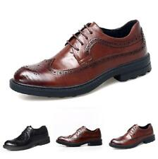 Men Low Top Business Brogue Shoes Pointy Toe Work Office Wing Tip Carved Party L