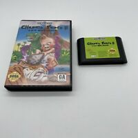 Chuck Rock II: Son of Chuck (Sega Genesis, 1993) W/ Case Authentic Tested Clean