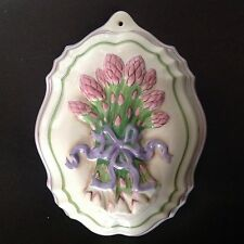 Franklin Mint Le Cordon Blue Pink Asparagus Flower Jello Mold Wall Plaque