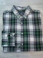 Chaps Men's Dress/Casual Shirt - Green Plaid; Button-Down- XL - Excellent - New!