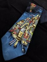 1994 The Collection McDonalds NYC Manhatten Twin Towers Golden Arches Neck Tie