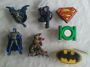 Yoda - Venom - Green Goblin - Batman - Green Lantern logo shoe charm  NWT