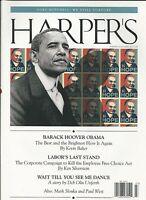 Harper's Magazine Barack Obama Herbert Hoover Employee Free Choice Act Politics