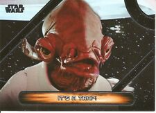Star Wars Galactic Files Famous Quotes It's a Trap Insert Trading Card #MQ-5