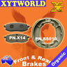 FRONT REAR Brake Pads Shoes for Yamaha YZ 125 T (2T) 1987