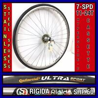 700c Rigida Rear Bicycle Wheel w/ -speed & Tire Road Bike  L5