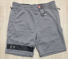 Under Armour Tech Terry Mens Training Shorts Grey Gym Workout  Sweatshort XL