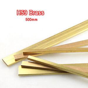 H59 Brass Flat Rod Bar Square Sheets Metal Panel, 500mm Long, Various sizes