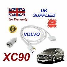 VOLVO XC90 For Apple iPhone 3gs 4 4s iPod Audio Cable & 1.0A Power Adapter w