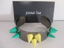 joomi Lim Rodio Esmalte Pulsera de muñeca NIP Bronce Verde Amarillo