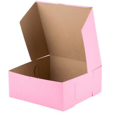 "10 count Pink Cake / Bakery Box 12"" x 12"" x 5"""