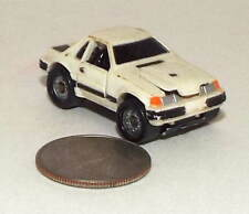Small Micro Machine 1980's Ford Mustang SVO in White Deluxe (Damaged)