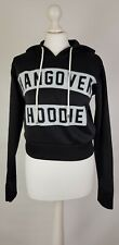 L355 WOMENS SIGNATURE BLACK HANGOVER HOODIE- LONG SLEEVED- UK S/M