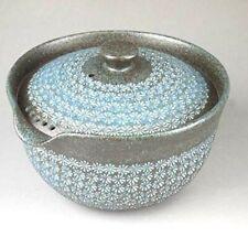 Hohin Kyusu Kyo Kiyomizu yaki Sencha Japanese pottery tea pot Nanban Miishima