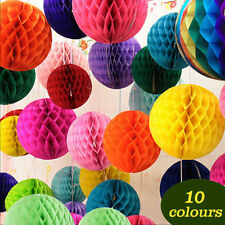 10 Colors Pop  HONEYCOMB BALLS WEDDING PARTY PAPER Xmas DECORAT HH