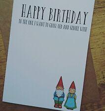 Funny Birthday card Boyfriend husband wife girlfriend