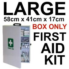 LARGE FIRST AID KIT Wall Mount BOX ONLY 58cm x 41cm  x 17cm LOCKABLE WITH KEY