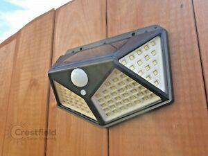 Solar Security Light. Super Bright PIR Motion Sensor Wall Security Floodlight.