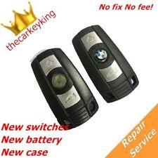 Repair Service BMW 1 3 5 6 7 Series E90 E92 E93 3 button key + battery + case