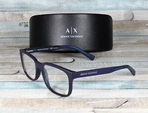 ARMANI EXCHANGE AX3029 8183 Matte Blue Demo Lens 54 mm Men's Eyeglasses