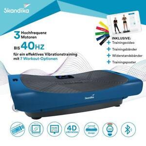 skandika Home Vibration Plate V3000 Vibrationsplatte mit 4D-Vibration, Blau
