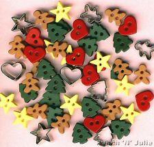 Itty Bitty Cortar Galletas Pan de Jengibre Hombre corazón Star vestirla Craft Botones