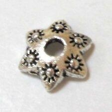 30 x Tibetan antique Silver Alloy Bead Caps flower- 10mm - A0558