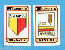 PANINI CALCIATORI 1983/84 -Figurina n.515- FRANCAVILLA+MESSINA - SCUDETTO -Rec