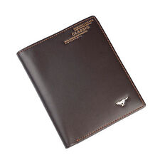 Men Cow Bifold Leather Wallet Bank Credit Card Septwolves Purse brown 10236-Y