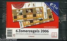 NVPH 2417-18 POSTFRIS 2 X BLOK ZOMERZEGELS 2006 IN TOONBANKVERPAKKING SCHAARS !!