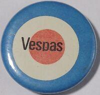 VESPAS Mod Target Old OG Vtg 1980`s Button Pin Badge Mods Scooter