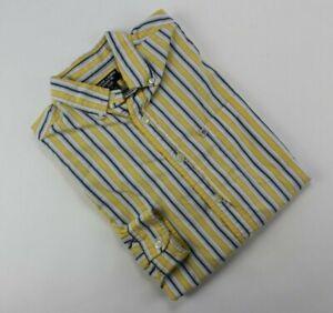 Vintage Ralph Lauren Jeans Co. Men's Yellow Striped Long Sleeve Shirt Tag Sz M