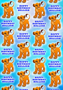 Simba Personalised Gift Wrap - Disney's The Lion King Wrapping Paper - Simba D2