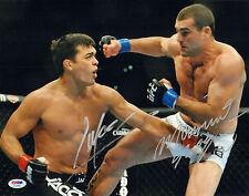 LYOTO MACHIDA SHOGUN RUA SIGNED AUTO'D 11X14 PHOTO PSA/DNA COA AC29467 UFC 104