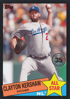 Clayton Kershaw 2020 Topps Series 2 1985 All-Star Black Parallel Dodgers /299