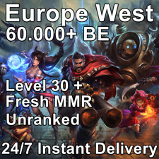 EUW   League of Legends   Unranked Smurf Account   Lvl 30   60,000+ BE