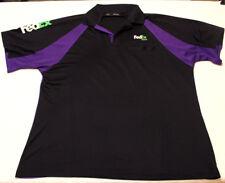 Fedex Express Employee Uniform Polo Shirt Short Sleeve Stan Herman Wicking XXL