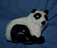 "Vintage Ceramic Panda Planter Hand Painted 3' X 4"""
