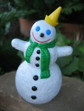 Christmas Ornament Jack In The Box 1998 Snowman Green Scarf Yellow Hat