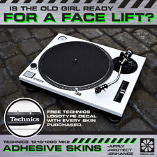 Technics SL1210 / SL1200 Mk2 - Turntable Sticker Skin Wrap - Various Colours