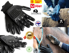 Grooming Gloves Professional Deshedding 2 Pieces Pet Dog Cat Horse Equine Animal