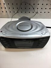 Timex MP3 Line In Digital Alarm Clock Radio Silver Black Phone Stand T435B