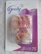 75 Goody 2009 Old Formula Translucent Colored Glittery Poly Elastic Hair Bands