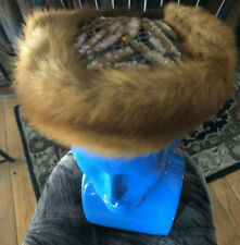 Antique Real Fur (Mink?) Animal And Sequin Hat By May Co