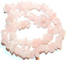 "NG1717f Rose Quartz Large (10-12mm) Chip Gemstone Beads 15"""